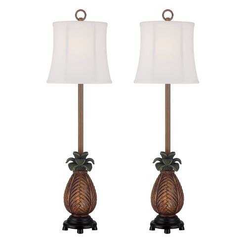 Accent pineapple table lamp set of 2 premium design accent pineapple table lamp set of 2 aloadofball Choice Image