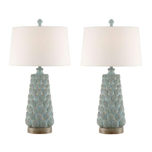 Seashell Night Light Table Lamp Set Of 2