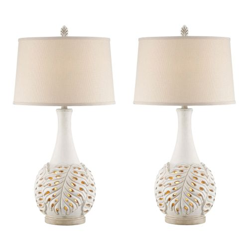 Antique white leaf night light table lamp last chance sale antique white leaf night light table lamp set of 2 aloadofball Images