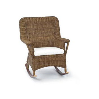 Outdoor Classic Wicker Rocking Chair With Cushion