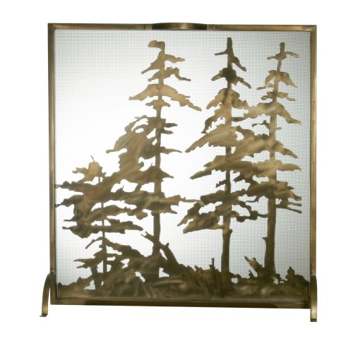 meyda lighting 32 w x 33 h tall pines fireplace screen ships free