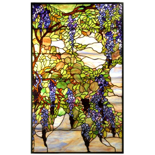 Meyda lighting 25 5 quot w x 42 quot h tiffany wisteria amp snowball stained