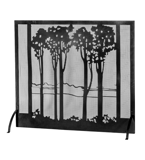 medya tiffany 55 w x 48 h tall poplars fireplace screen