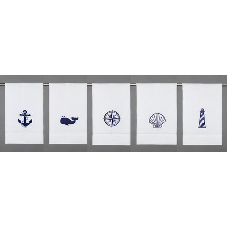 Nautical Guest Towels: Assorted Nautical Icons Guest Towels (set Of 5