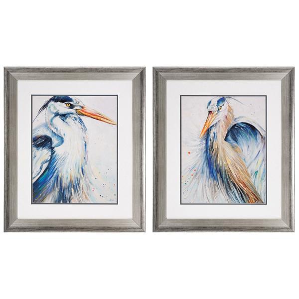 Tropical Heron Ii Framed Art
