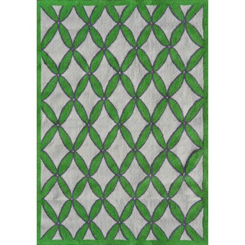 Green Patio Rug 5x7: Rug Market Diamonds Green Indoor / Outdoor Hook Rug