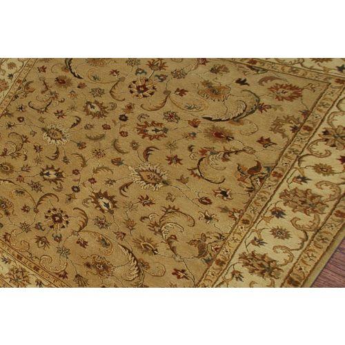 Area Rug Persian 9x12 Oriental Carpet Ivory Wool: Jaipur Classic Oriental Pattern Taupe/Ivory Wool Area Rug