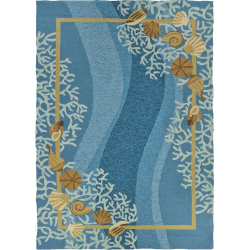 Shells & White Coral Indoor Outdoor Area Rug, 5 X 7 By