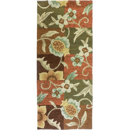 Tropical Pineapple Amp Flowers Indoor Outdoor Rug 26 X 60