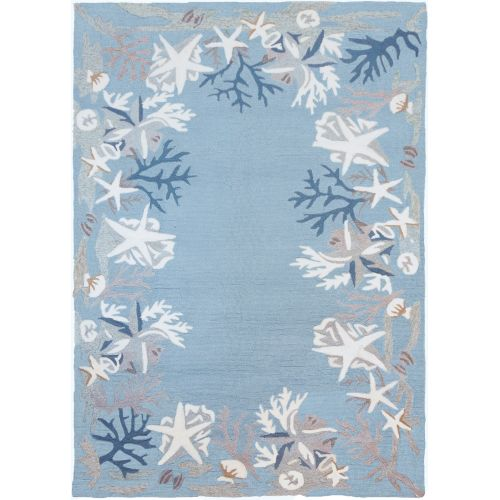 White Coral Reef Indoor Outdoor Area Rug 8 X 10 By