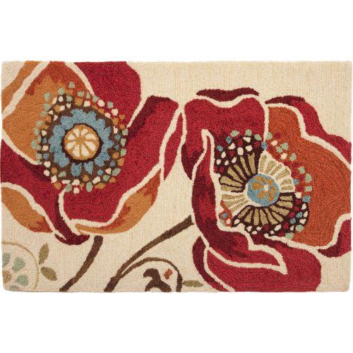 Moroccan Red Indoor Doormat Outdoor Rug, 22 X 34 By