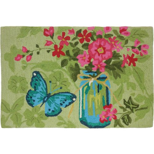 Mason Jar Flowers Indoor Doormat Outdoor Rug 22 X 34 By