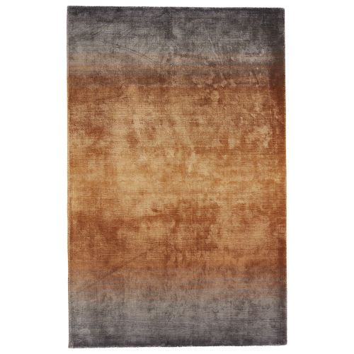 Gray Area Rug 8x11: Jaipur Solids & Heather Pattern Gray/Yellow Viscose Area