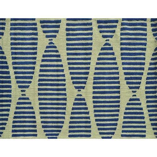 Green Patio Rug 5x7: Navy Stamps Indoor / Outdoor Rug