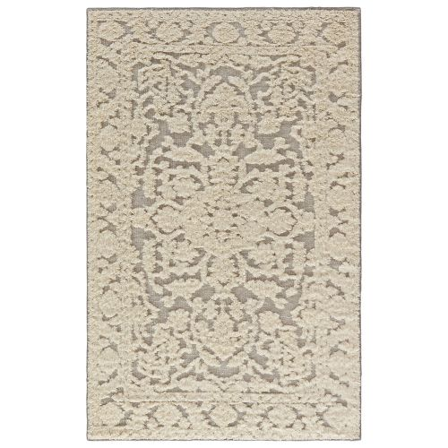 Gray 8x11 Area Rugs: Jaipur Classic Oriental Pattern Neutral/Gray Wool Area Rug