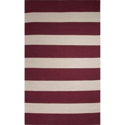 Jaipur flatweave stripes pattern red white cotton area rug for Red and white striped area rug