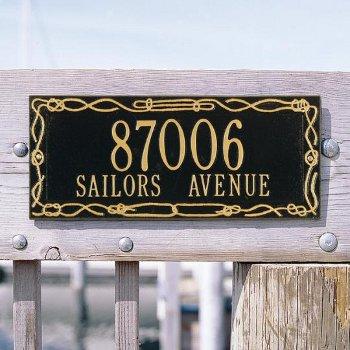 Sailor'S Knot Address Plaque