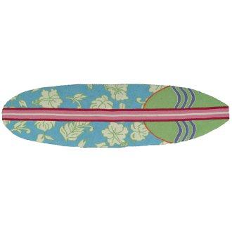 Surfboard Hawaiian Turquoise Rug