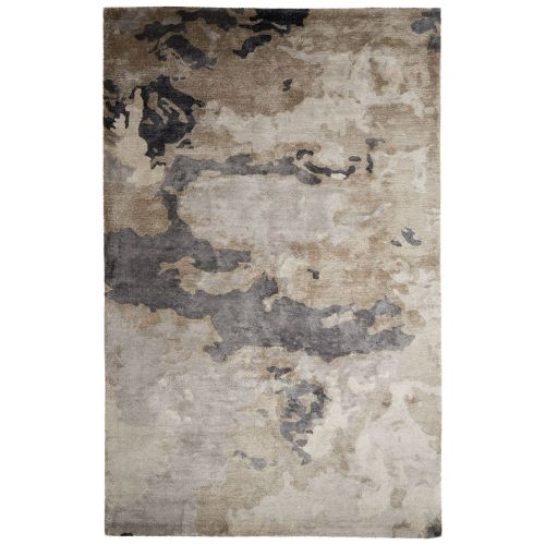 Jaipur Contemporary Abstract Pattern Taupe Gray Art Silk