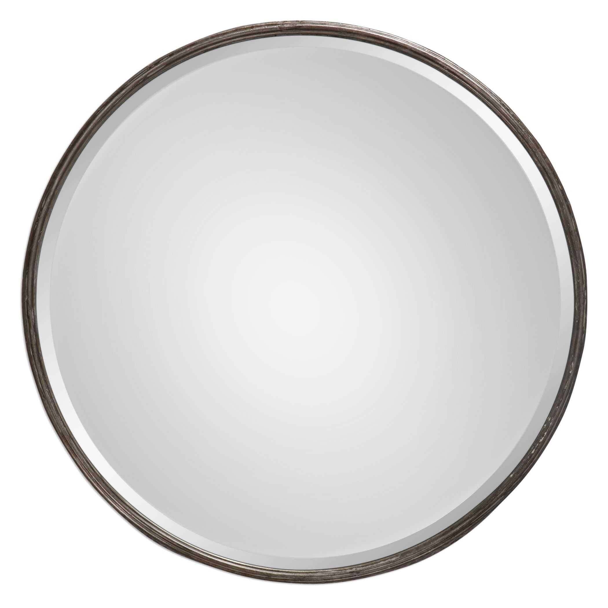 Uttermost nova round metal mirror for Metal miroir