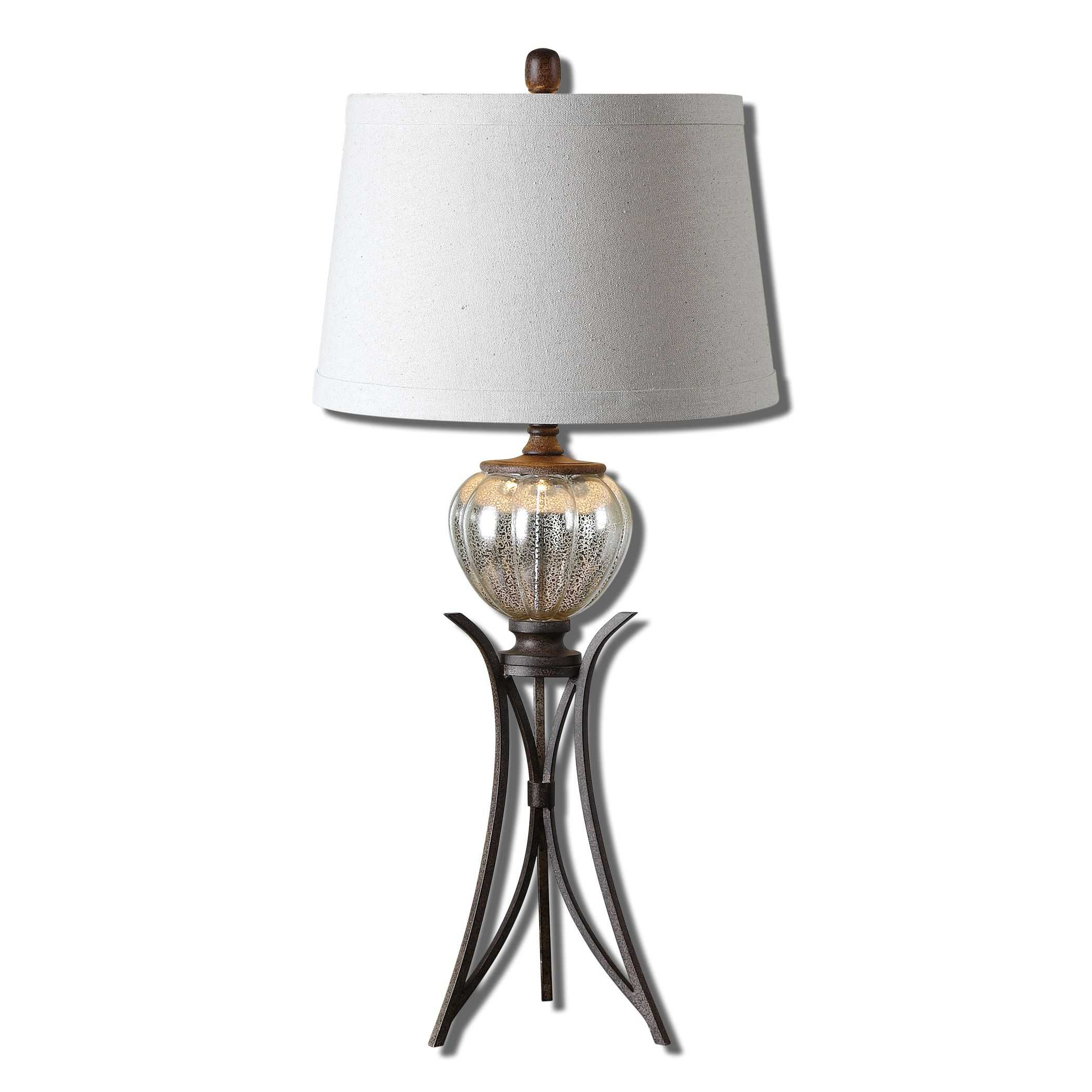 uttermost cebrario mercury glass table lamp. Black Bedroom Furniture Sets. Home Design Ideas