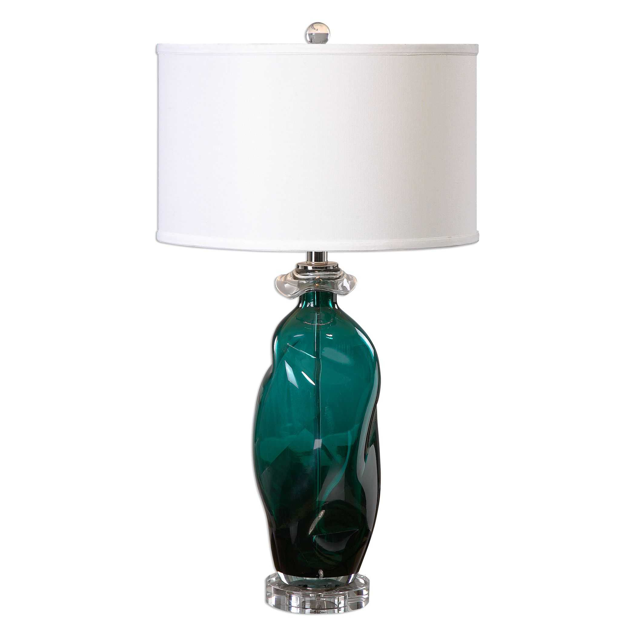 uttermost rotaldo blue green glass table lamp. Black Bedroom Furniture Sets. Home Design Ideas