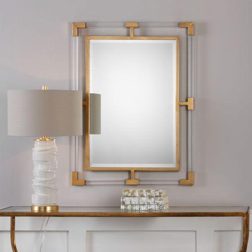 Uttermost Balkan Modern Gold Wall Mirror