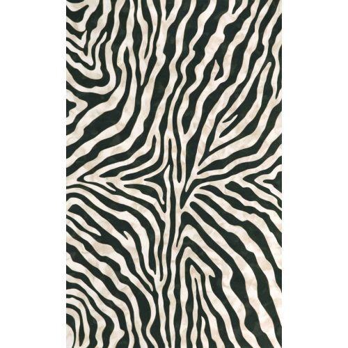 Trans Ocean Zebra Black Rug 8 X 10