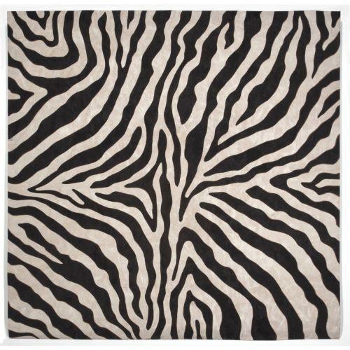 Trans Ocean Zebra Black Rug 8 X 8