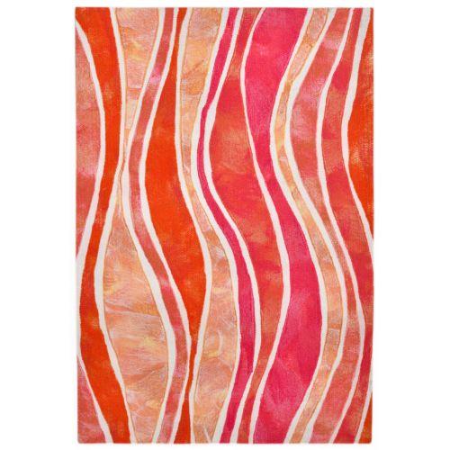 Trans Ocean Liora Manne Visions Iii Wave Indoor Outdoor Rug Pink 24 X36