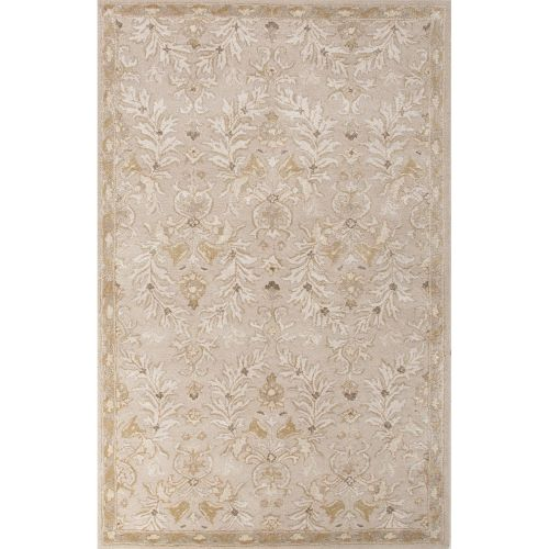 Area Rug Persian 9x12 Oriental Carpet Ivory Wool: Jaipur Classic Oriental Pattern Ivory/Yellow Wool And Art