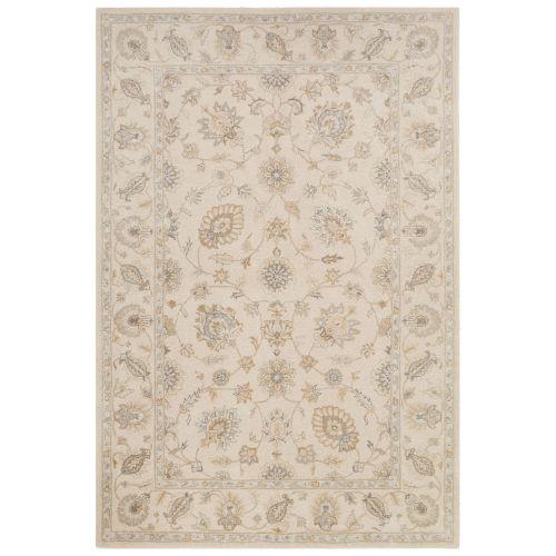 Area Rug Persian 9x12 Oriental Carpet Ivory Wool: Jaipur Classic Oriental Pattern Ivory/White Wool And Art