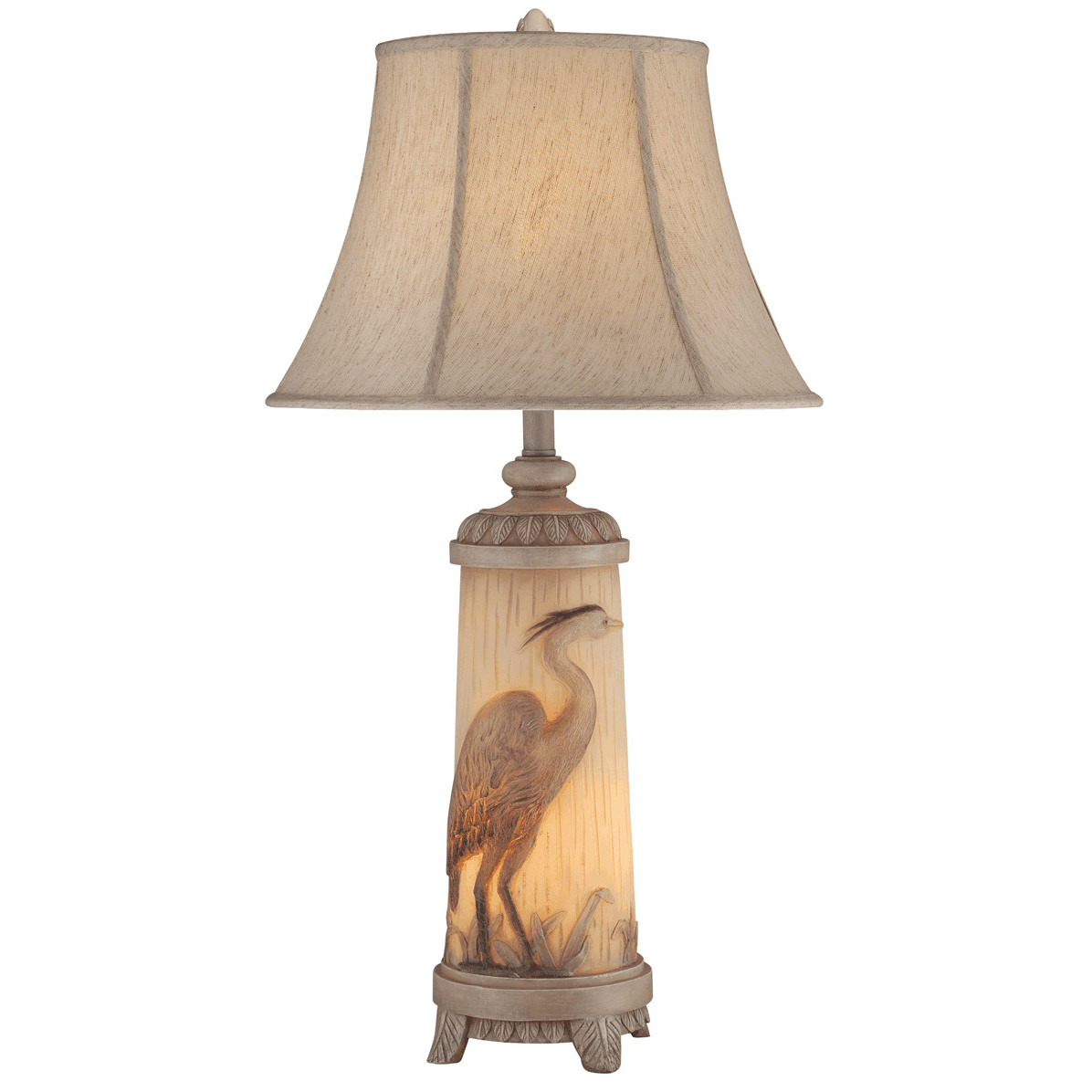 Shop nautical coastal table lamps beach themed heron night light table lamp geotapseo Images