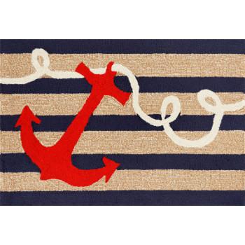 Anchor Navy Indoor Outdoor Rug