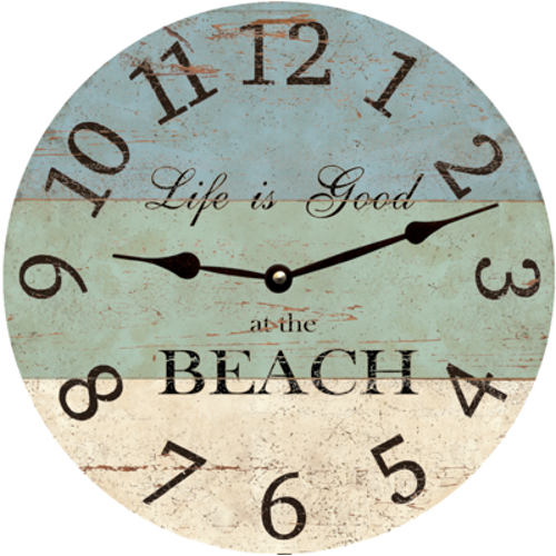 life is good at the beach clock. Black Bedroom Furniture Sets. Home Design Ideas