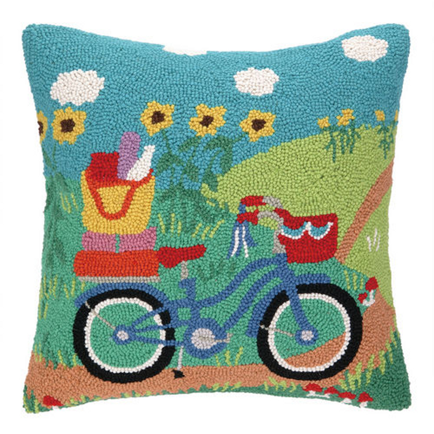Going Places Bike Hook Pillow