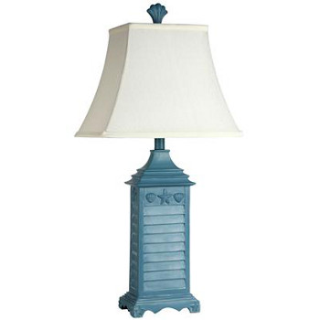 beach house blue table lamp. Black Bedroom Furniture Sets. Home Design Ideas