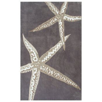 Sea Stars Area Rug Brown White Beige