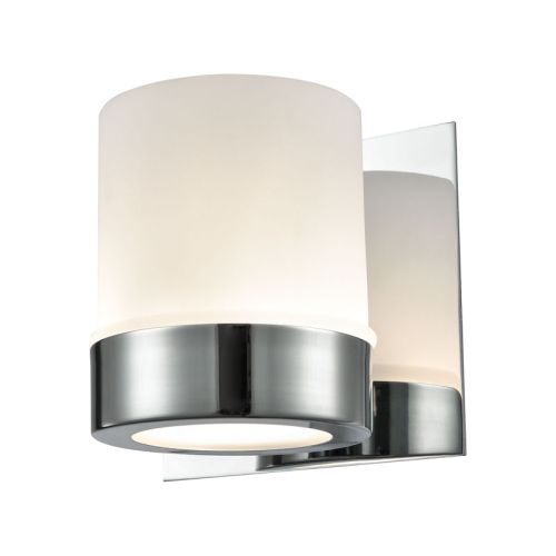 Beach Glass Vanity Light : Mulholland 1 Light Vanity In Chrome And Opal Glass