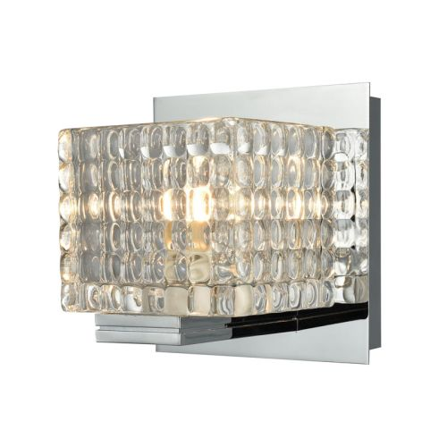 Vanity Lights With Clear Glass : Chastain 1 Light Vanity In Chrome And Clear Glass
