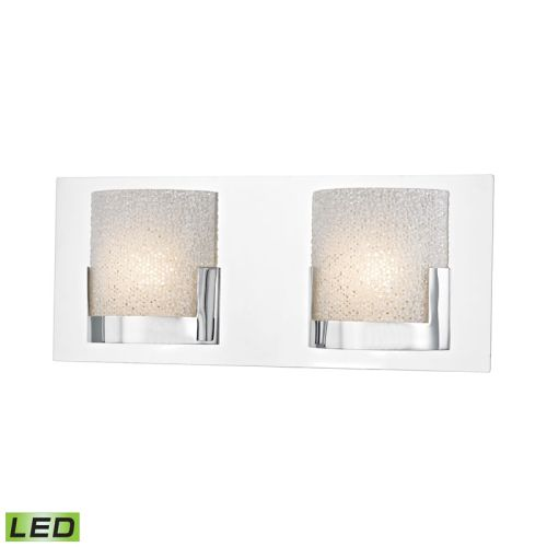 Vanity Lights With Clear Glass : Ophelia 2 Light LED Vanity In Chrome And Clear Glass