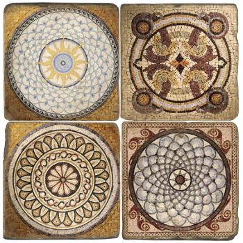 classic design italian marble mosaic coasters. Black Bedroom Furniture Sets. Home Design Ideas
