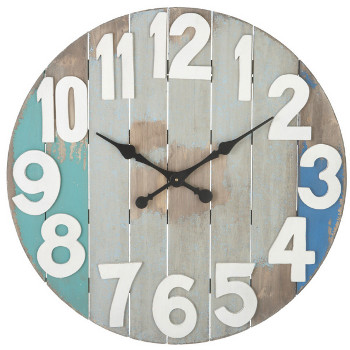slatted wood wall clock. Black Bedroom Furniture Sets. Home Design Ideas