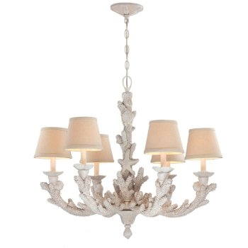 Coral coastal chandelier decorated with beach style aloadofball Gallery