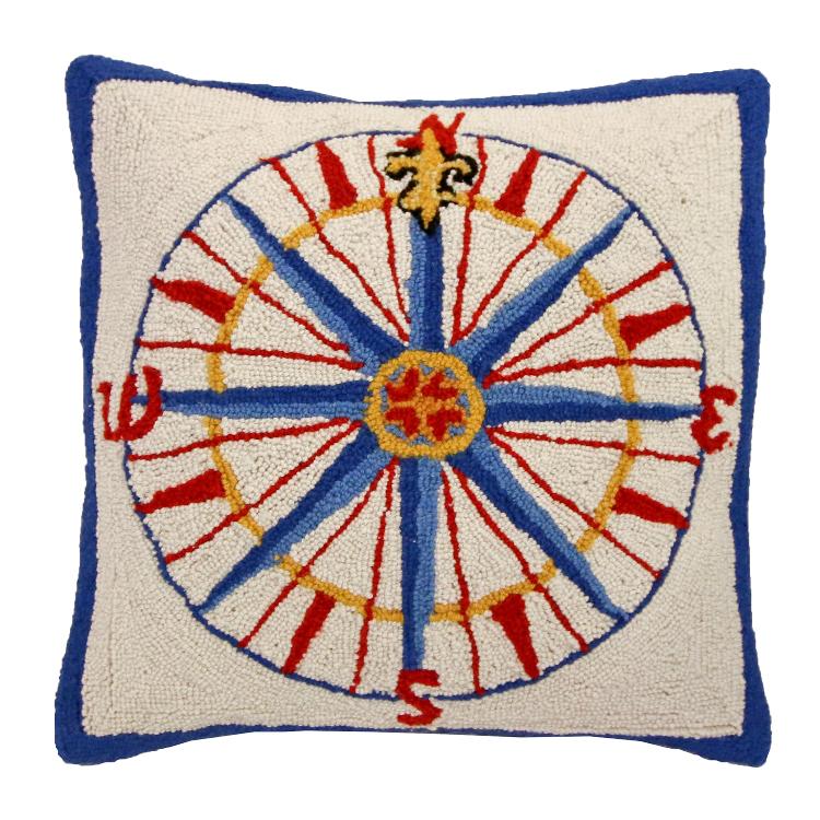 Nautical Compass Rose Rug: Pillow