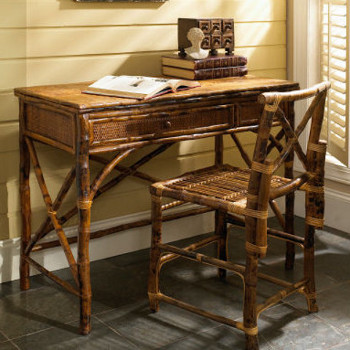 Coastal Bamboo  Desk and Chair Set