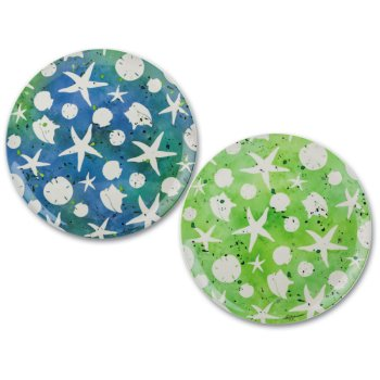 Starfish Melamine Dinner Plates Set of 4