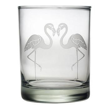 Flamingo Etched DOR Glass Set