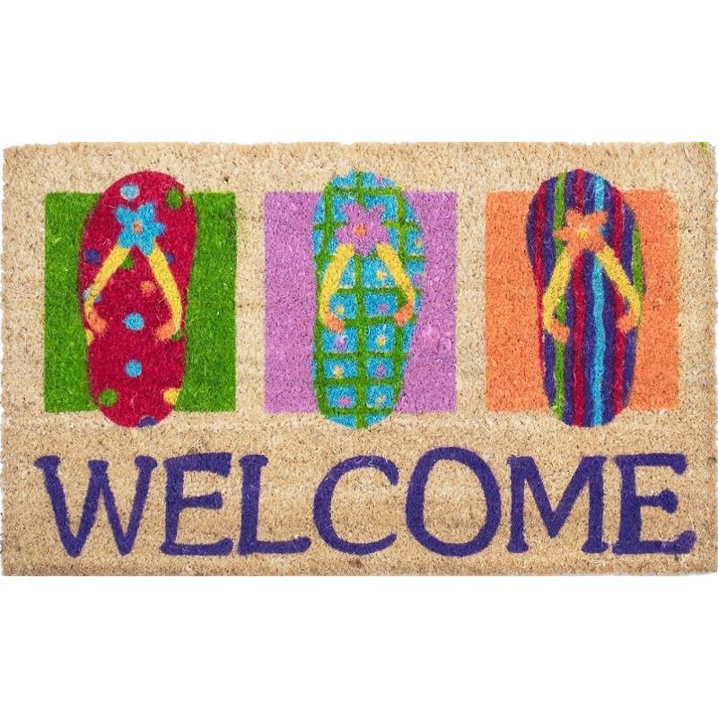 Flip Flops Welcome Coco Doormat