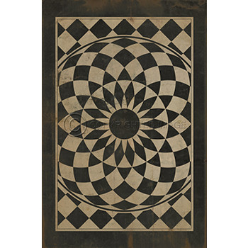 Black and White Pattern Indoor Outdoor Rug